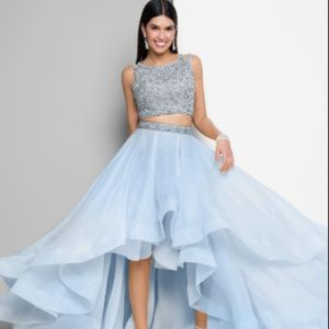 Terani Couture Prom Beaded-Top Organza-Skirt Two-P